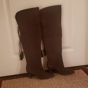 New Over The Knee Suede Brown Boots